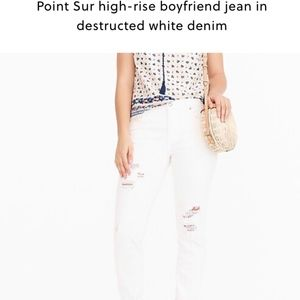Destructed White Jeans